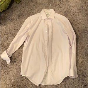 Men's Calvin Klein Purple and White Dress Shirt